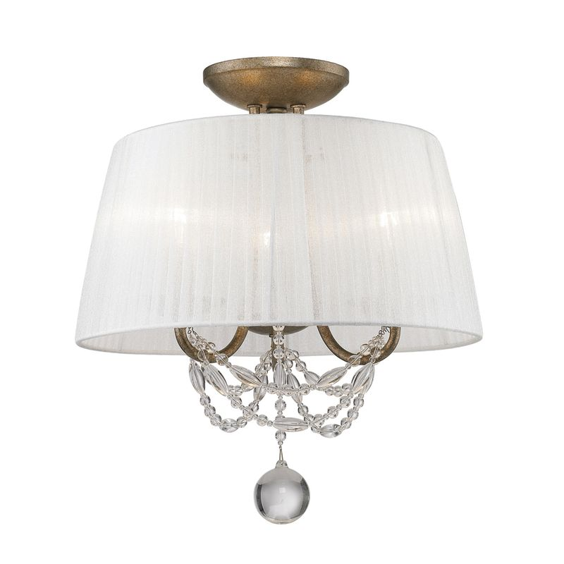 Golden Lighting 7644-SF 3 Light Semi-Flush Mount Fixture from the