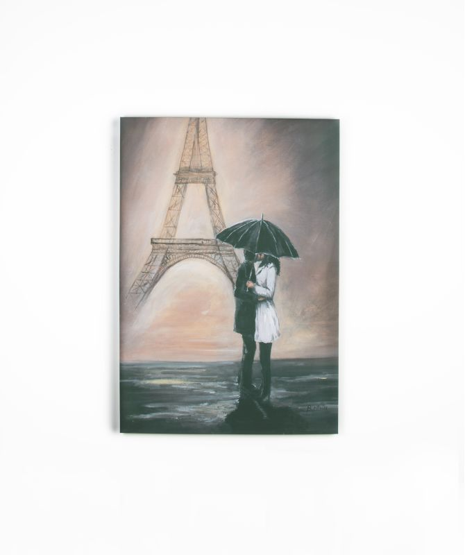 "Graham and Brown 41-319 39 Inch x 27 Inch ""Kissing In Paris"" Art Print"