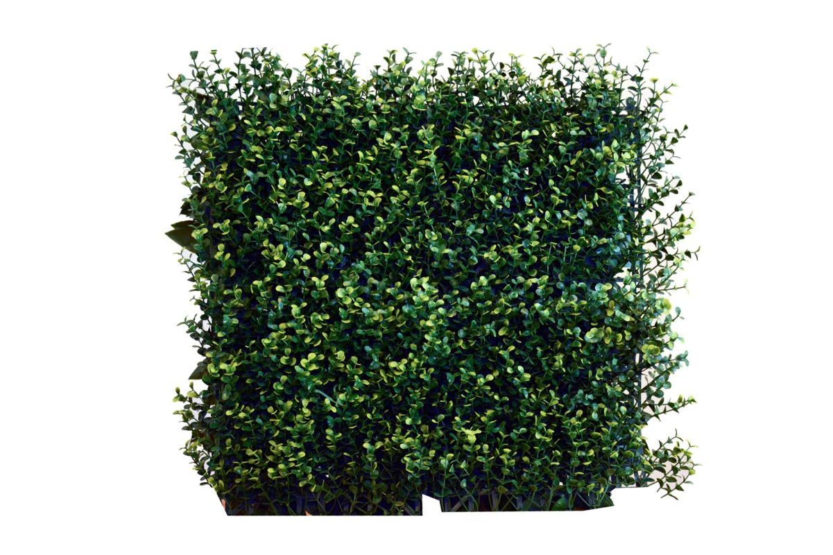 "Greensmart Decor MZ-8048Y 20"" x 20"" Artificial Greenery Wall Panel -"