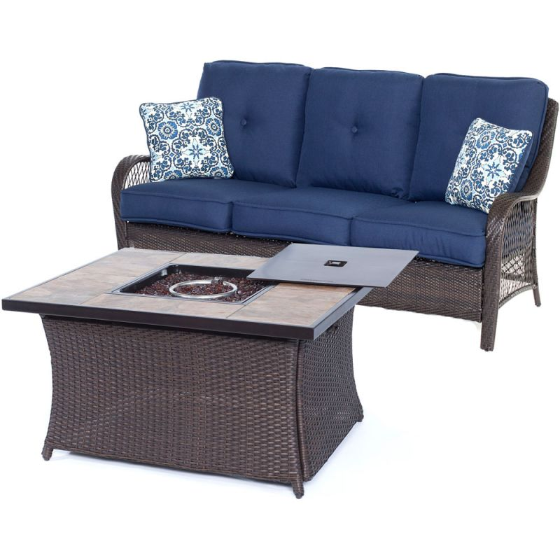 Hanover ORLEANS2PCFP-B Orleans 2-Piece Steel Framed Outdoor