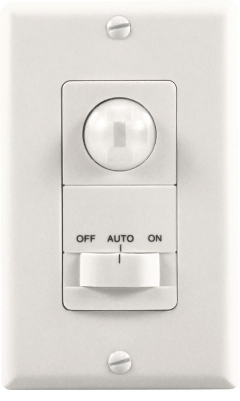 Heath Zenith SL-6113-WH Motion-Activated Wall Light Switch with 5