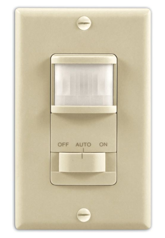Heath Zenith SL-6117-IV Motion-Activated Wall Light Switch Ivory