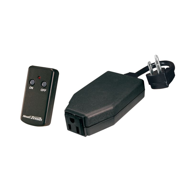 Heath Zenith SL-6139-D Basic Solutions Outdoor Remote Control Black