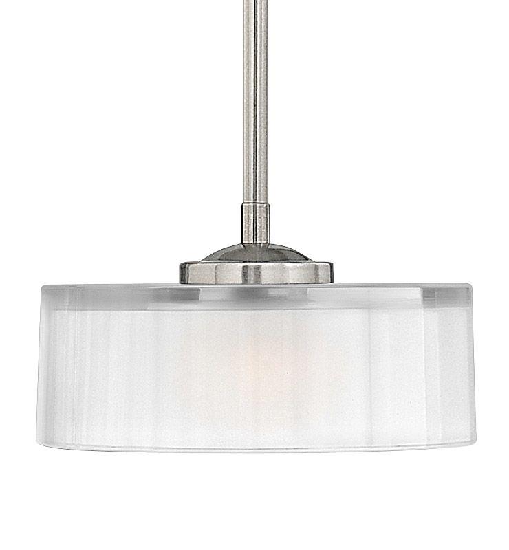 Hinkley Drum Lighting: Hinkley Lighting 3877BN Brushed Nickel 1 Light Indoor Drum