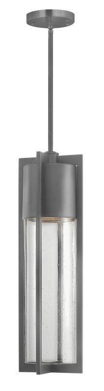 Hinkley Lighting 1322HE-GU24 Hematite Contemporary Shelter Pendant