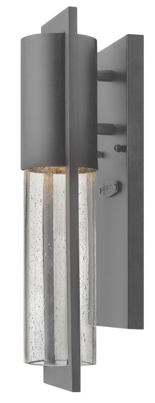 Hinkley Lighting 1326HE-GU24 Hematite Contemporary Shelter Wall Sconce
