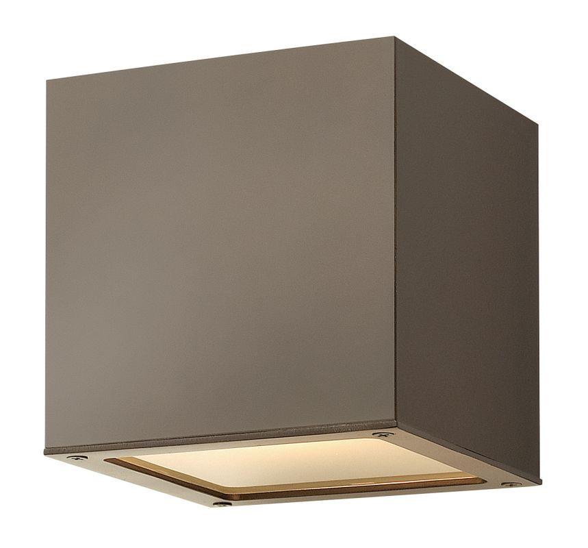 Hinkley Lighting 1766BZ-GU24 Bronze Contemporary Kube Wall Sconce