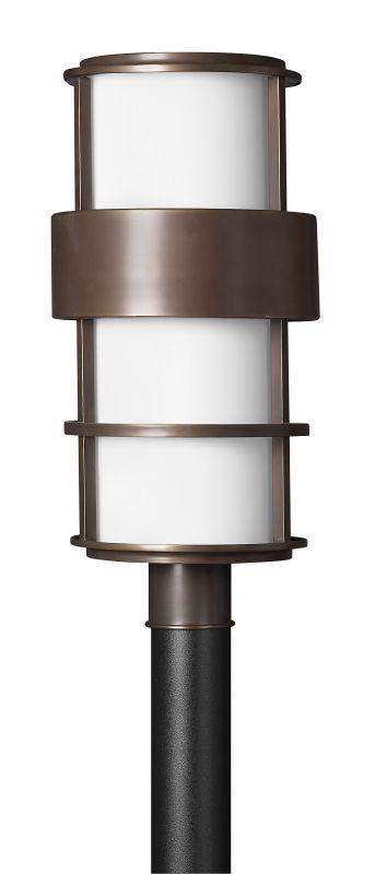 Hinkley 1901MT-GU24 Metro Bronze Contemporary Saturn Post Light