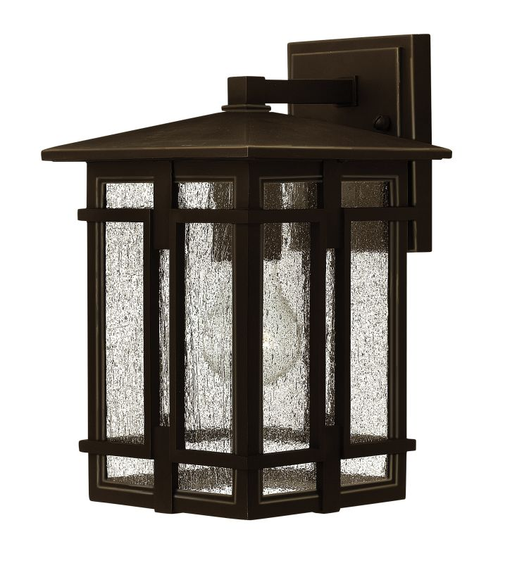 "Hinkley Lighting 1960 1 Light 7"" Wide Lantern Dark Sky Wall Sconce"