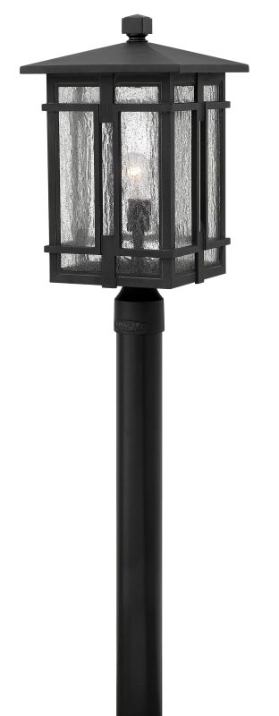 Hinkley Lighting 1961 1 Light Outdoor Post Light with Clear Seedy