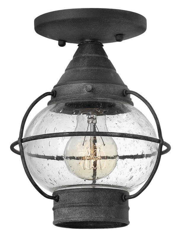 Hinkley Lighting 2203-LED 1 Light LED Semi-Flush Outdoor Ceiling