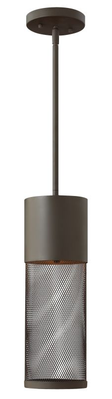Hinkley Lighting 2302-GU24 1 Light Dark Sky Outdoor Small Pendant with