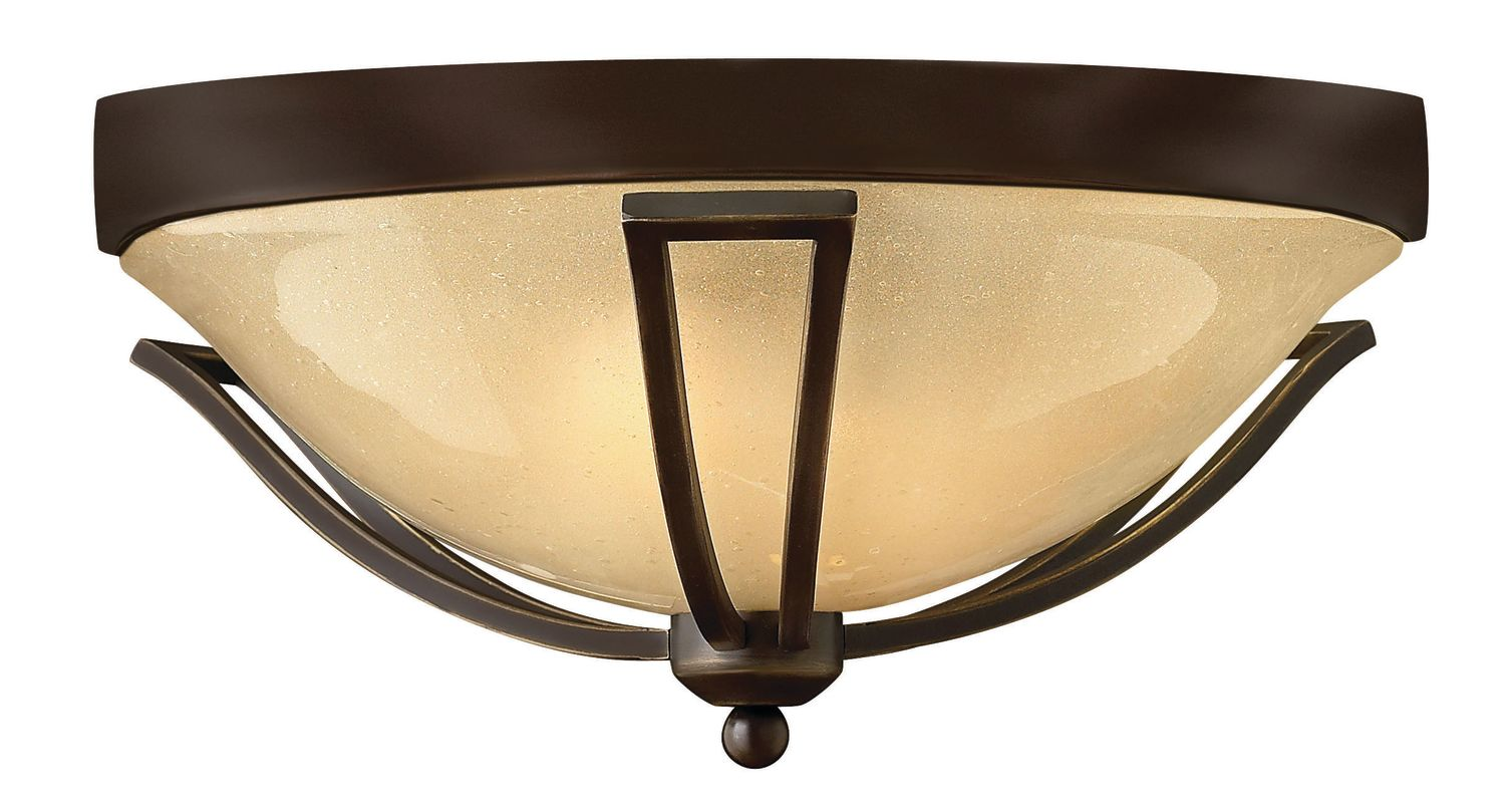 """Hinkley Lighting 2633-LED 1 Light LED Outdoor Flush Mount Ceiling Sale $559.00 ITEM: bci2635150 ID#:2633OB-LED UPC: 640665263497 Single Light LED Outdoor Flush Mount Ceiling Fixture from the Bolla Collection Features: Light Amber Seedy glass dome shade Seeded glass shades replicate the look of colonial glass Made of solid brass Designed to cast a soft ambient light over a wide area Can be mounted facing upwards only Energy efficient Suitable for dry locations Lamping Technology: LED - Light Emitting Diode: Highly efficient diodes produce little heat and have an extremely long lifespan. Specifications: Bulb Included: Yes Bulb Type: LED Dark Sky: No Height: 8"""" (measured from ceiling to bottom most point of fixture) LED: Yes Location Rating: Wet Location Material: Brass Number of Bulbs: 1 Product Weight: 10 lbs Sloped Ceiling Compatible: No Title 24: No Voltage: 120v Wattage: 32 Watts Per Bulb: 32 Width: 16.75"""" (measured from furthest point left to furthest point right on fixture) About Hinkley Lighting: Since 1922, Hinkley Lighting has been driven by a passion to blend design and function in creating quality products that enhance your life. Hinkley is continually recommended by interior and exterior designers, and is available to you through premier lighting showrooms across the country. They pride themselves in delivering superior customer service that is second to none. They know that you have goals when it comes to your home's décor, and they care about helping you achieve the final outcome you are looking for in every aspect. :"""