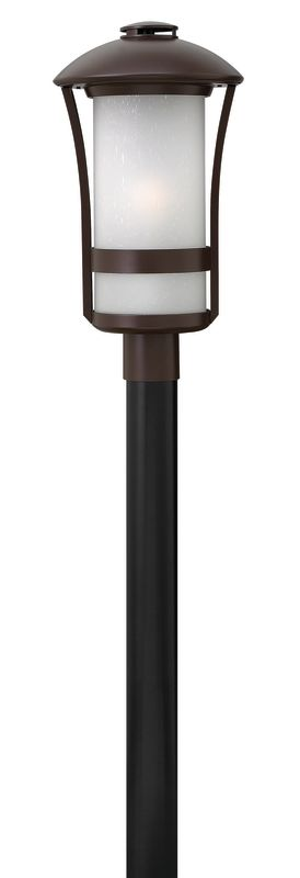 """Hinkley Lighting 2701-LED 1 Light LED Post Light from the Chandler Sale $395.00 ITEM: bci2635164 ID#:2701AR-LED UPC: 640665270143 Features: Frosted glass shade to diffuse and soften light Made of aluminum Designed to cast a soft ambient light over a wide area Can be mounted facing upwards only Energy efficient Post not included Suitable for wet locations Fitter diameter = 3"""" Lamping Technology: LED - Light Emitting Diode: Highly efficient integrated diodes produce little heat and have an extremely long lifespan. Specifications: Bulb Included: Yes Bulb Type: LED Dark Sky: No Height: 20.5"""" LED: Yes Material: Aluminum Number of Bulbs: 1 Post Included: No Product Weight: 20.56 lbs Title 24: No UL Rating: Wet Location Voltage: 120v Wattage: 15 Watts Per Bulb: 15 Width: 11"""" (measured from furthest point left to furthest point right on fixture) Compliance: UL Listed - Indicates whether a product meets standards and compliance guidelines set by Underwriters Laboratories. This listing determines what types of rooms or environments a product can be used in safely. About Hinkley Lighting: Since 1922, Hinkley Lighting has been driven by a passion to blend design and function in creating quality products that enhance your life. Hinkley is continually recommended by interior and exterior designers, and is available to you through premier lighting showrooms across the country. They pride themselves in delivering superior customer service that is second to none. They know that you have goals when it comes to your home's décor, and they care about helping you achieve the final outcome you are looking for in every aspect. Hinkley Lighting provides post and pier mount lights that illuminate your exterior style, the welcoming statement to your home. :"""