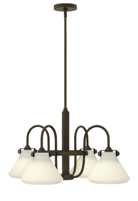Hinkley Lighting 3040 Congress 4 Light 1 Tier Chandelier with Etched