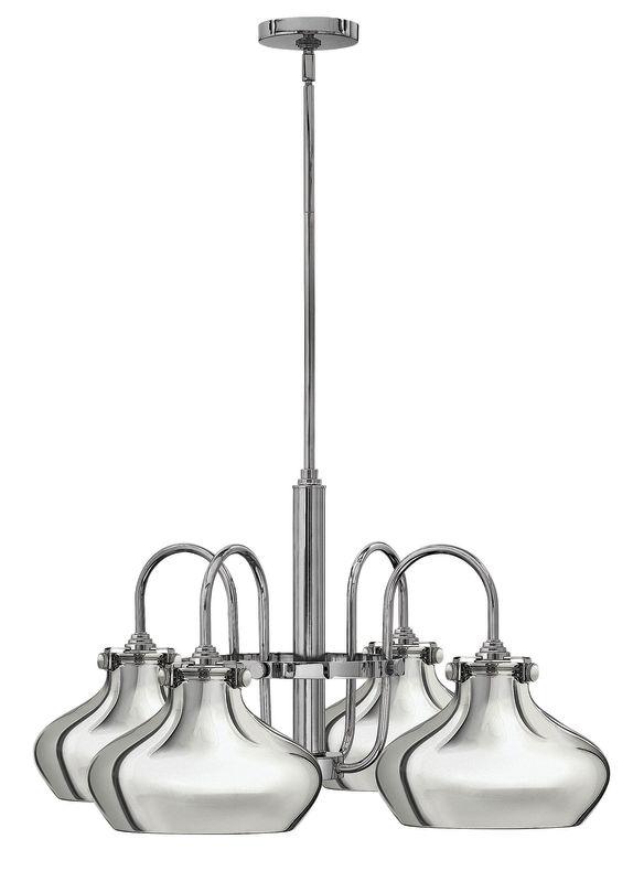 Hinkley Lighting 3048 Congress 4 Light 1 Tier Chandelier Chrome Indoor
