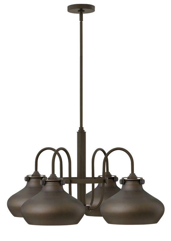 Hinkley Lighting 3048 Congress 4 Light 1 Tier Chandelier Oil Rubbed