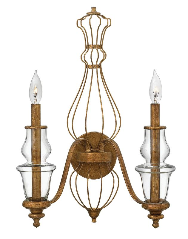Hinkley Lighting 3082 2 Light Indoor Double Sconce Wall Sconce from Sale $159.00 ITEM: bci2493678 ID#:3082GF UPC: 640665308204 :