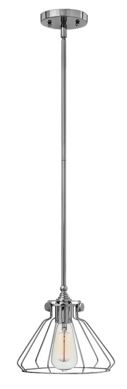 Hinkley Lighting 3110 1 Light Mini Pendant with Cone Glass Guard from