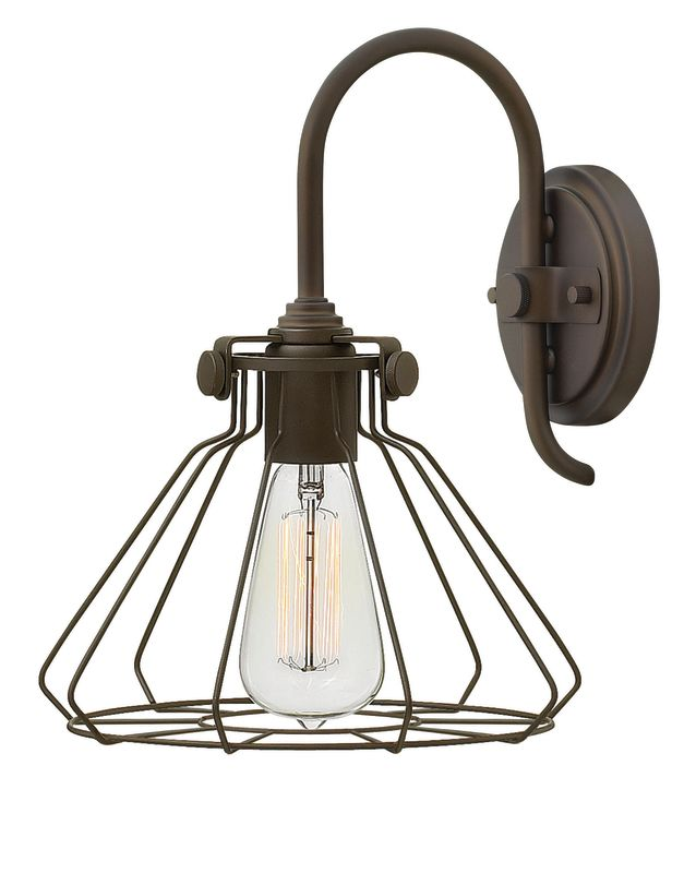 Hinkley Lighting 3113 1 Light Ambient Wall Sconce with Cone Glass Sale $159.00 ITEM: bci2635647 ID#:3113OZ UPC: 640665311327 :