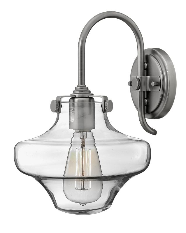 Hinkley 3171AN Antique Nickel Contemporary Congress Wall Sconce