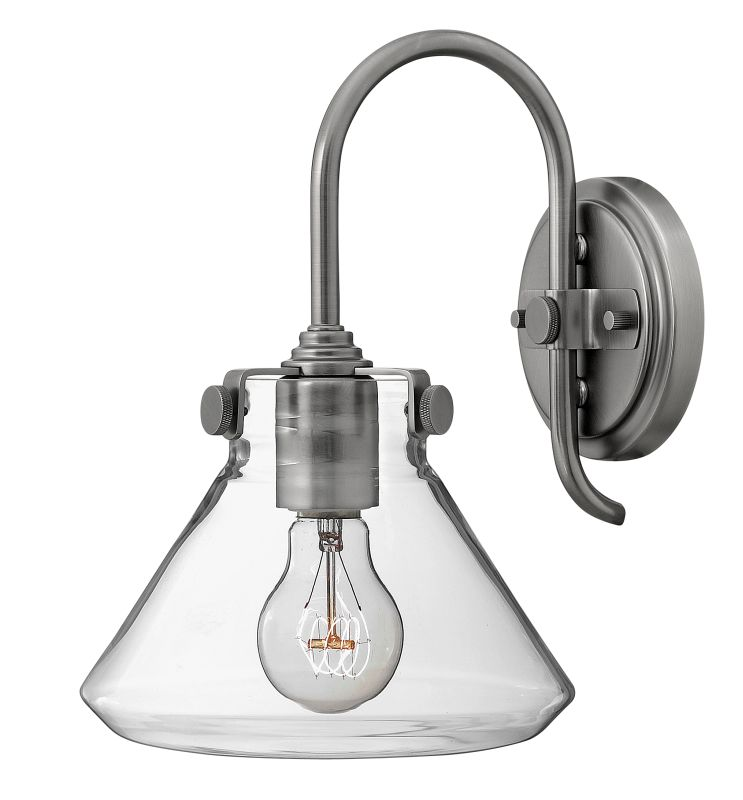 Hinkley 3176AN Antique Nickel Contemporary Congress Wall Sconce