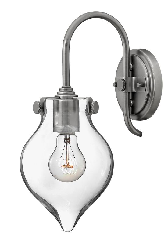 Hinkley 3177AN Antique Nickel Contemporary Congress Wall Sconce