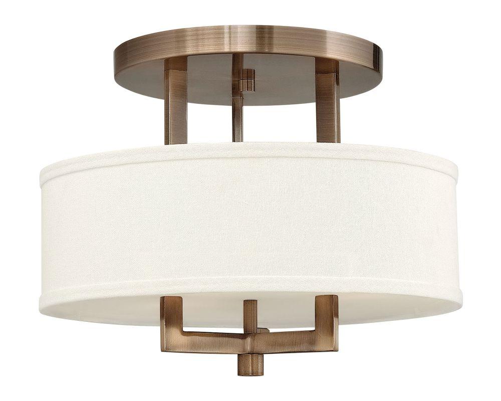 Hinkley 3200BR-LED Brushed Bronze Contemporary Hampton Ceiling Light