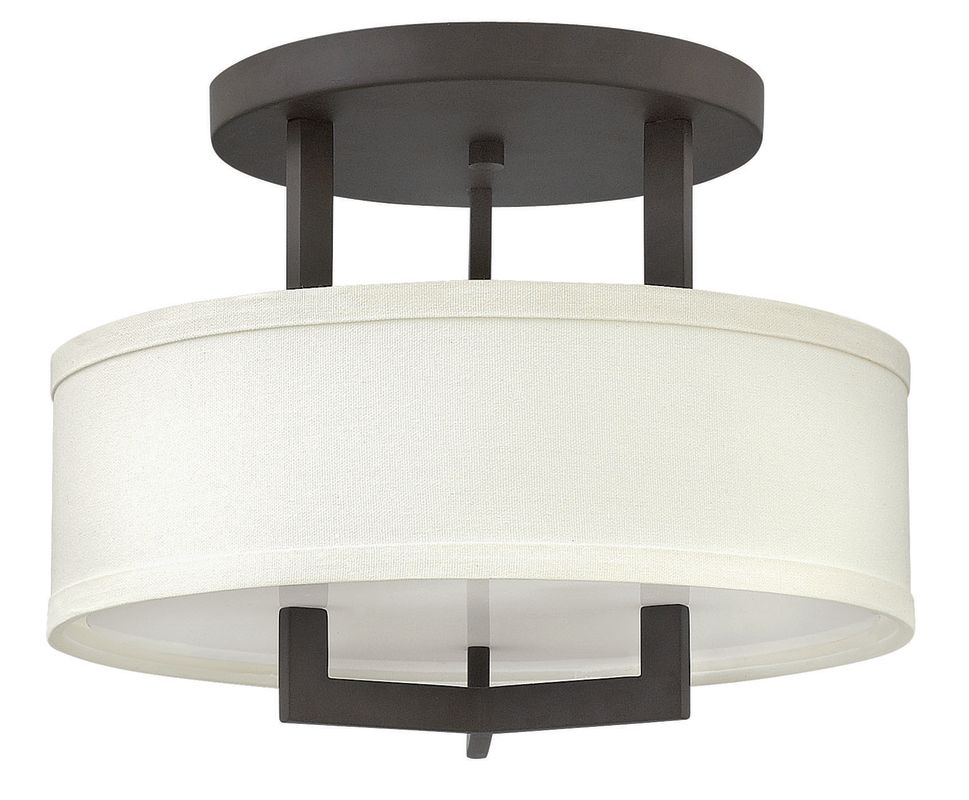 "Hinkley Lighting 3200 3 Light 15"" Width Semi-Flush Ceiling Fixture Sale $279.00 ITEM: bci2635730 ID#:3200KZ UPC: 640665320084 :"