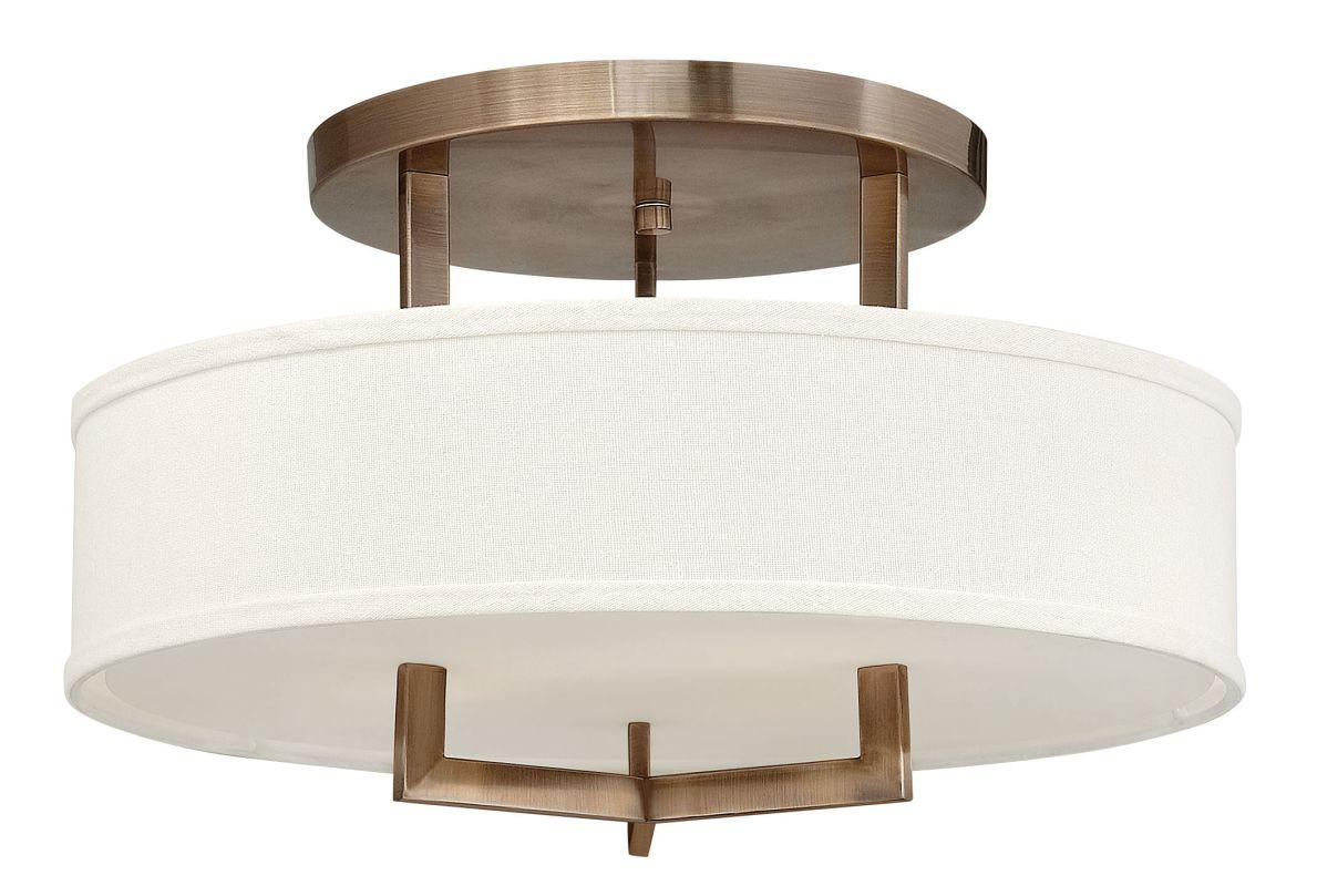 Hinkley 3201BR-LED Brushed Bronze Contemporary Hampton Ceiling Light