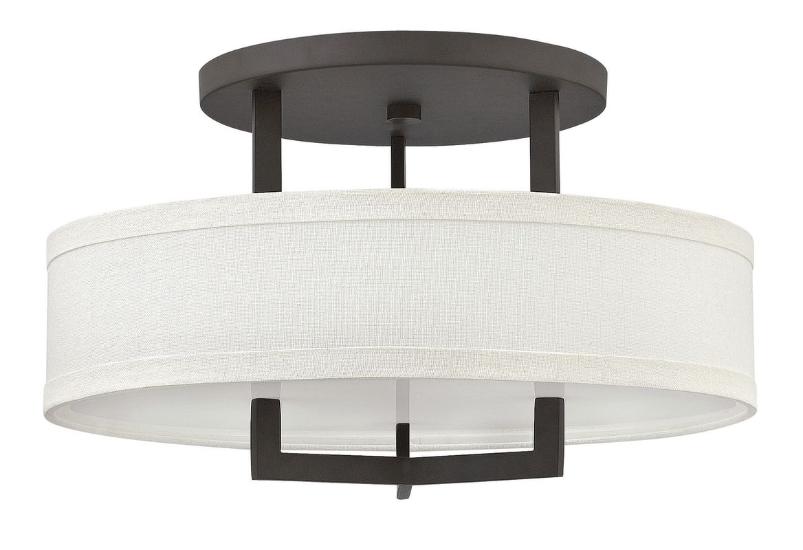 """Hinkley Lighting 3201 3 Light 20"""" Width Semi-Flush Ceiling Fixture"""