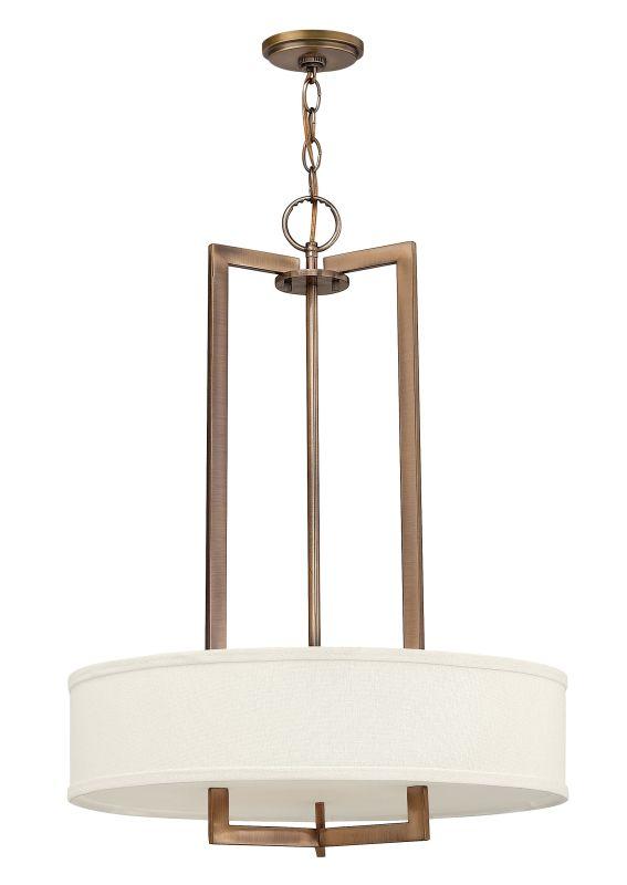 Hinkley 3203BR-LED Brushed Bronze Contemporary Hampton Pendant