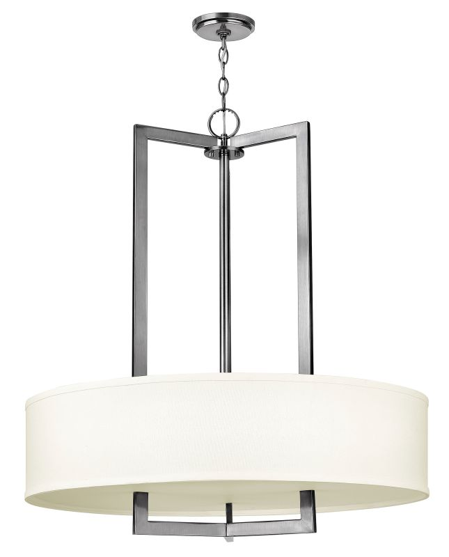 Hinkley 3206AN-LED Antique Nickel Contemporary Hampton Chandelier