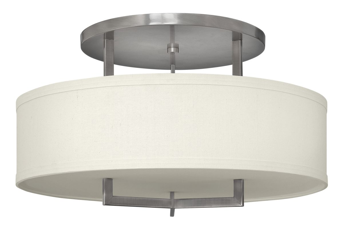 Hinkley 3211AN-LED Antique Nickel Contemporary Hampton Ceiling Light