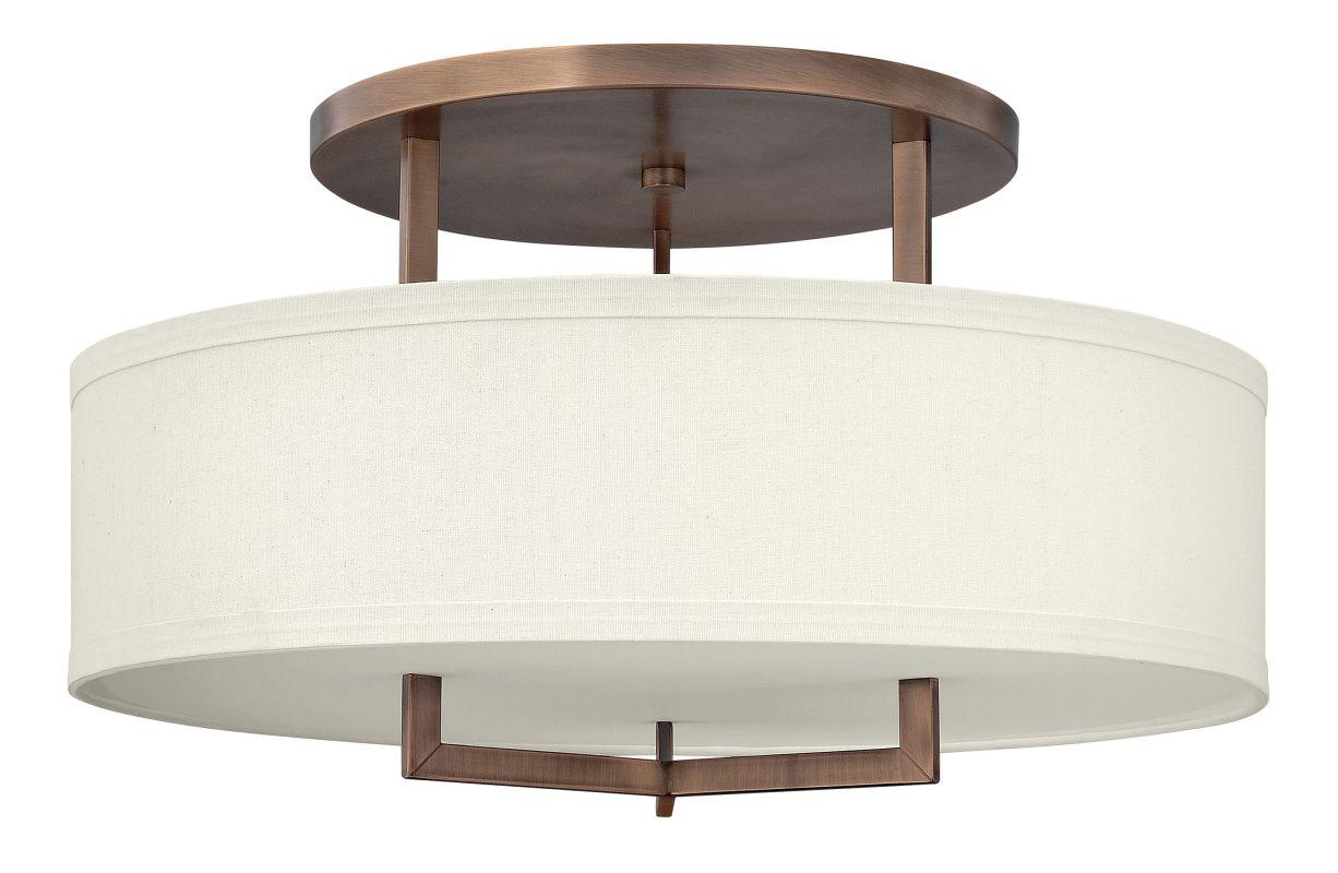 Hinkley 3211BR-LED Brushed Bronze Contemporary Hampton Ceiling Light