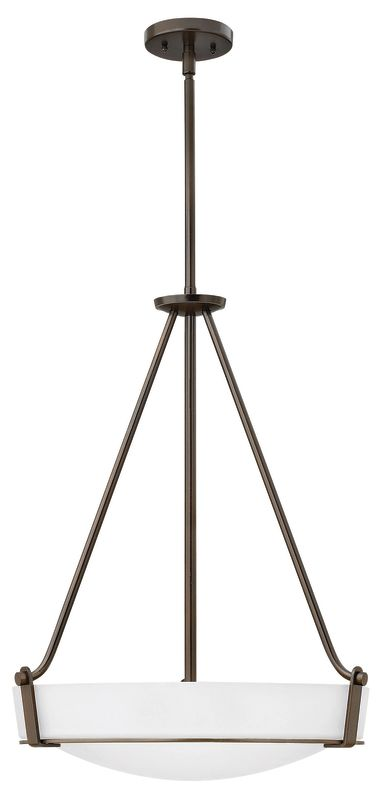 "Hinkley Lighting 3222 4 Light Full Sized Foyer Pendant from the Sale $439.00 ITEM: bci2635796 ID#:3222OB-WH UPC: 640665322361 Product Features: Finish: Antique Nickel , Light Direction: Up Lighting , Width: 20.75"" , Height: 26.5"" , Genre: Transitional , Bulb Type: Compact Fluorescent, Incandescent , Number of Bulbs: 4 , Fully covered under Hinkley Lighting warranty , Location Rating: Indoor Use :"