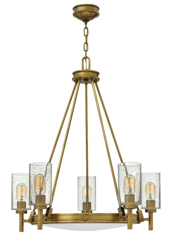 Hinkley Lighting 3385 5 Light 1 Tier Candle Style Chandelier from the Sale $699.00 ITEM: bci2635281 ID#:3385HB UPC: 640665338508 :
