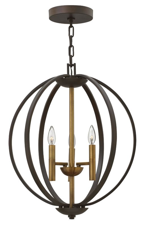 Hinkley Lighting 3463 3 Light Full Sized Foyer Pendant from the Euclid