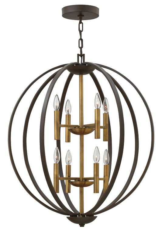 Hinkley Lighting 3468 8 Light Large Foyer Pendant from the Euclid Sale $1349.00 ITEM: bci2635295 ID#:3468SB UPC: 640665346800 :