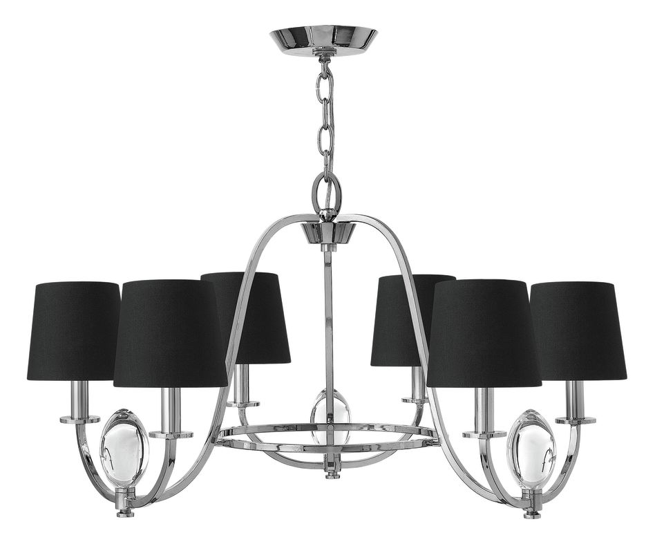 Hinkley Lighting 3756 6 Light 1 Tier Candle Style Chandelier from the Sale $699.00 ITEM: bci2635322 ID#:3756CM UPC: 640665375602 :