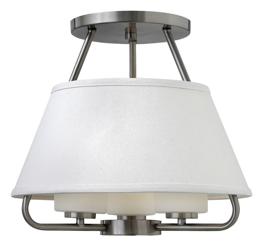 Hinkley Lighting 3951 3 Light Semi-Flush Ceiling Fixture from the Cole