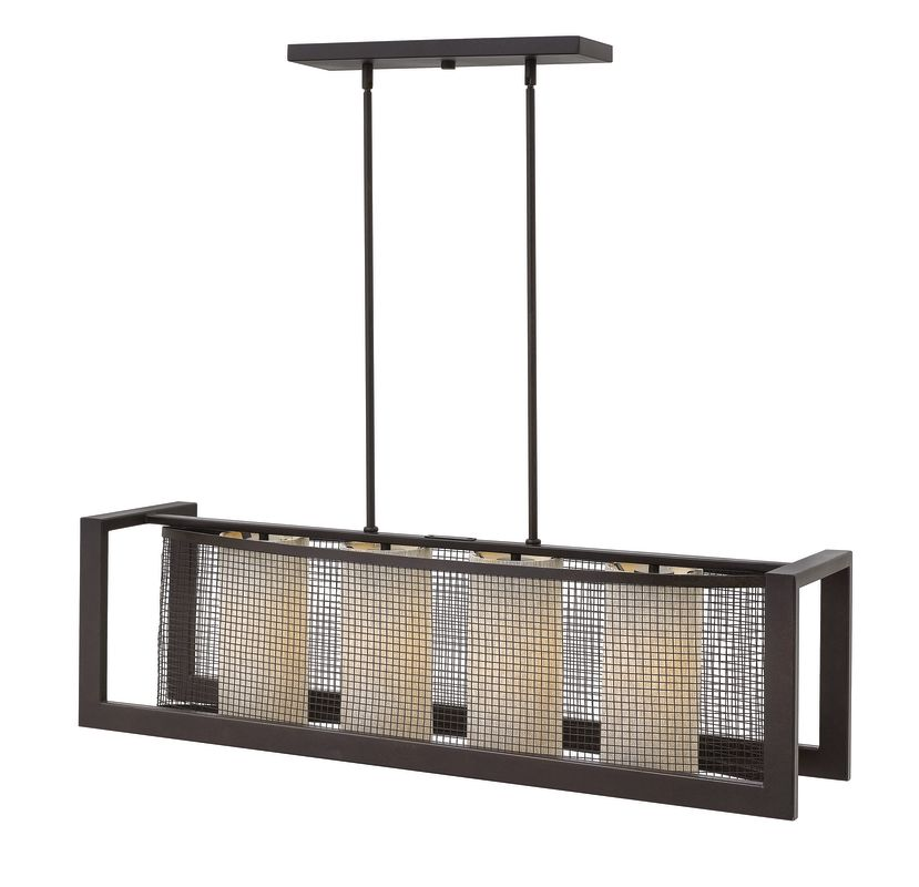 Hinkley Lighting 4034 4 Light 1 Tier Linear Chandelier from the Renzo Sale $699.00 ITEM: bci2635356 ID#:4034RB UPC: 640665403404 :