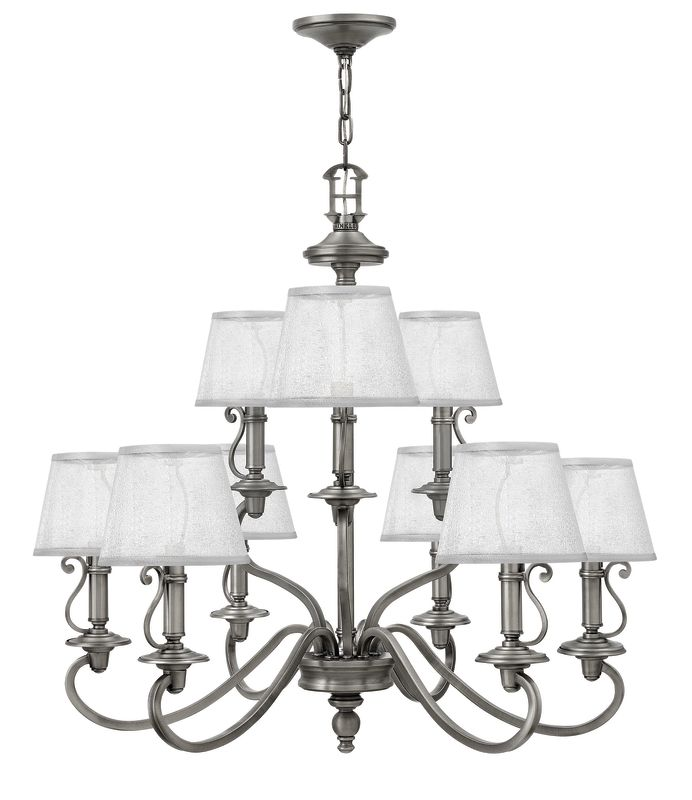 Hinkley Lighting 4248 9 Light 2 Tier Candle Style Chandelier from the Sale $899.00 ITEM: bci2635377 ID#:4248PL UPC: 640665424812 :