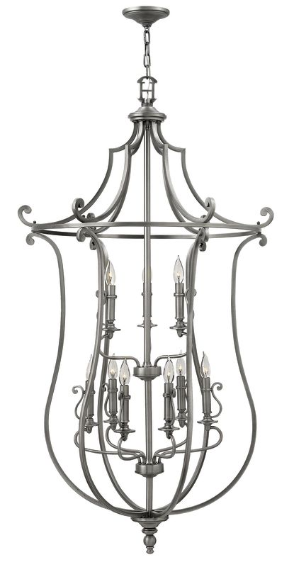 Hinkley Lighting 4259 9 Light 2 Tier Candle Style Chandelier from the
