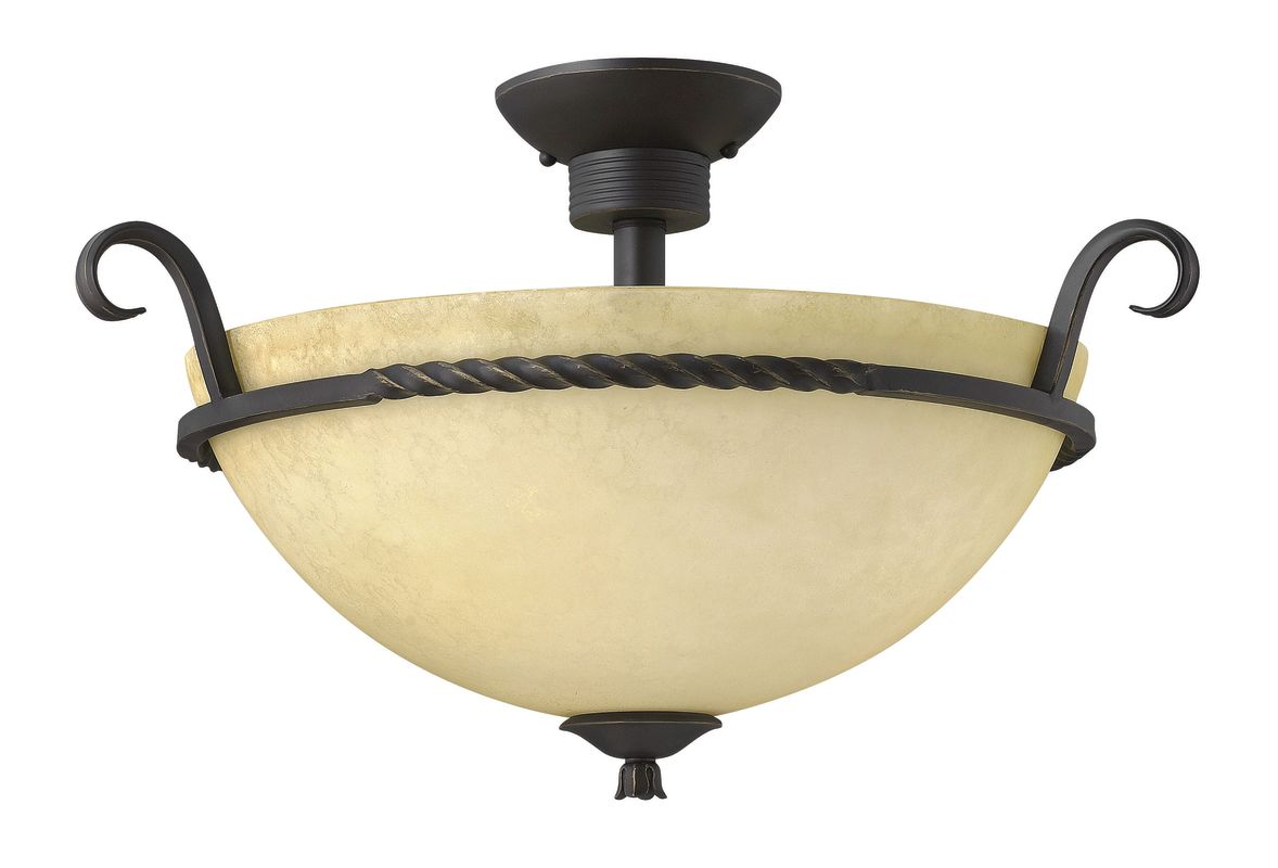 Hinkley Lighting 4311-GU24 3 Light Title 24 Fluorescent Semi-Flush