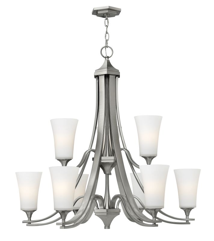 Hinkley Lighting H4638 Brantley 9 Light 2 Tier Chandelier Brushed Sale $799.00 ITEM: bci2173206 ID#:4638BN UPC: 640665463828 :