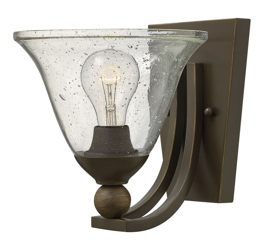 Hinkley Lighting 4650 1 Light Wall Sconce from the Bolla Collection Sale $99.00 ITEM: bci2635402 ID#:4650OB-CL UPC: 640665465051 :
