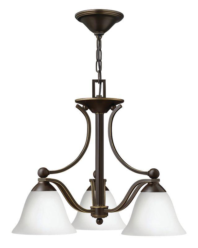 Hinkley Lighting 4653-OPAL Bolla 3 Light 1 Tier Mini Chandelier Olde