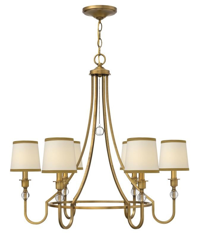 Hinkley Lighting 4876 Morgan 6 Light 1 Tier Chandelier Brushed Bronze Sale $639.00 ITEM: bci2233967 ID#:4876BR UPC: 640665487602 :