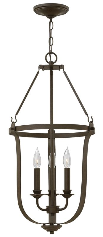 Hinkley Lighting 4943 3 Light Full Sized Foyer Pendant from the